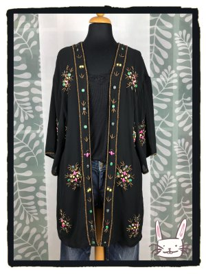 Aufwendig bestickte Kimono-Blusenjacke