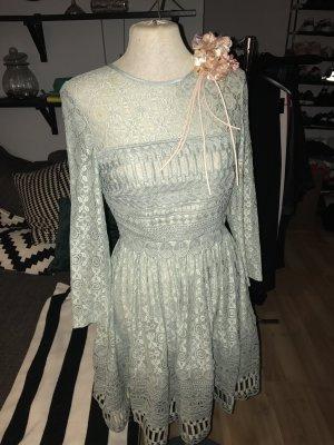 Aufwendig vernähtes Lace Kleid von Asos, mint, 34/36, NEU&ungetragen!