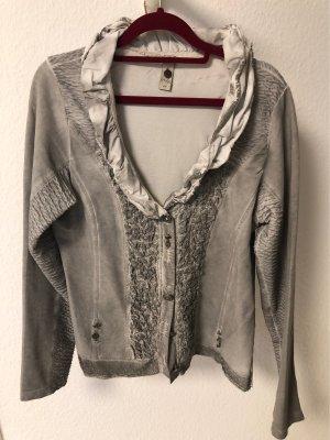 Tredy Chaqueta estilo camisa gris claro-gris