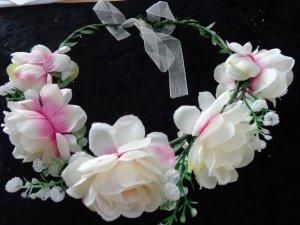 Ribbon natural white-pink
