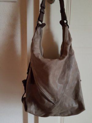 aunts & uncles Shoulder Bag beige-dark brown leather