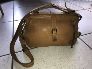 aunts & uncles Frame Bag cognac-coloured leather