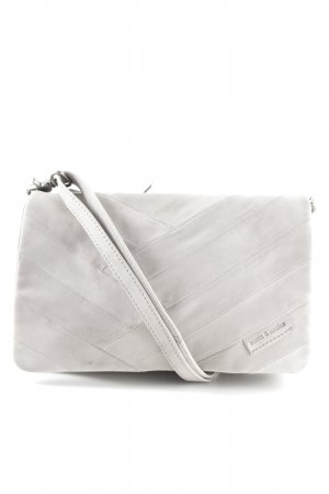 aunts & uncles Schultertasche hellgrau Steppmuster Casual-Look