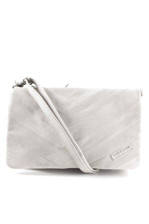 aunts & uncles Shoulder Bag light grey quilting pattern casual look