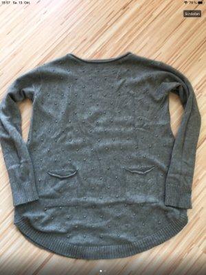 Jersey holgados gris verdoso-caqui