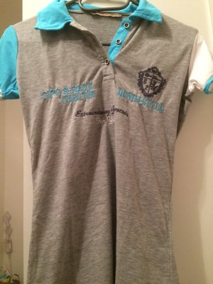 Cipo & Baxx T-Shirt grey-baby blue