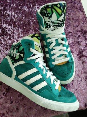 Adidas Originals High Top Sneaker white-petrol