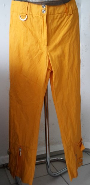 Ausgefallene AIRFIELD Sommer Hose 7/8 in leuchtendem Orange Gr.36