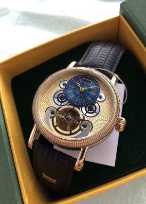 Ausgefallene Armbanduhr vergoldet