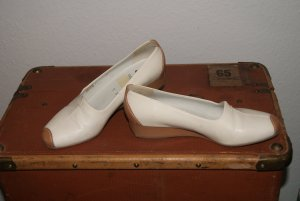 ara Ballerinas beige-cream leather
