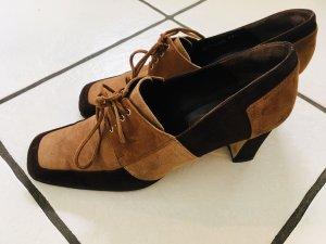 Ausgefallene Bally Schuhe Wildleder braun 38,5.