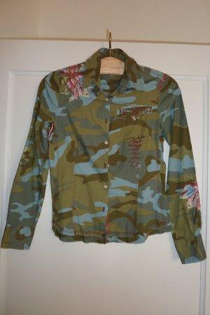 Ausgefallene Bluse - Camouflage Look