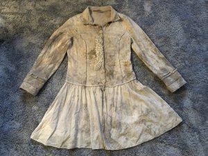 Bottega Veneta Blusa a tunica marrone chiaro-bronzo Cotone