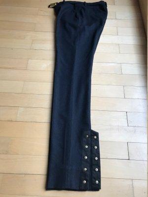 Diane von Furstenberg Pantalone a pieghe blu scuro-blu Lana
