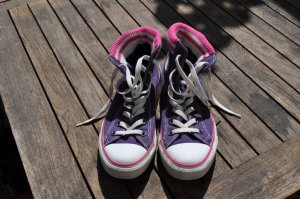 ausgefallene Converse lila/pink