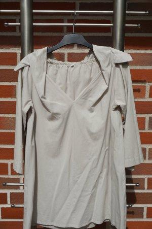 Blusa tipo kimono color plata