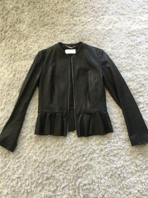 Hugo Boss Leather Jacket black leather