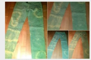 ausgefallene diy batik jeans
