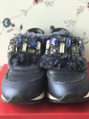 Zapatillas con velcro azul oscuro
