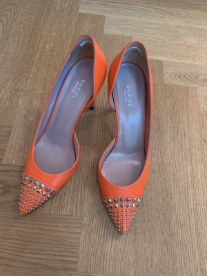 ausgefallene Gucci Pumps in orange