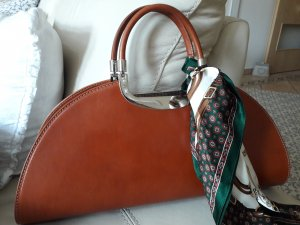 0039 Italy Handbag cognac-coloured