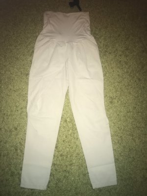 Rinascimento Pantalón estilo Harem gris claro-blanco puro Algodón