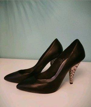 ausgefallene High Heels Gr. 40 schwarz H&M