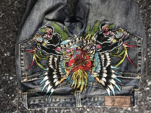 Christian Audigier Low Rise Jeans multicolored