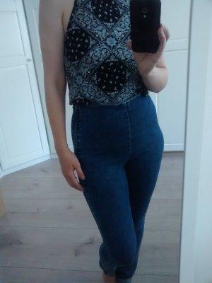 ausgefallene Jeans schlicht highwaist