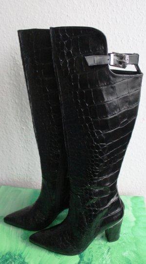 Högl Overknees black leather