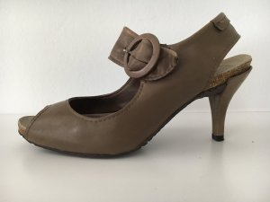 Pedro garcia Mary Jane Pumps grey brown leather