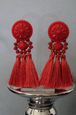 Statement Earrings salmon-bright red