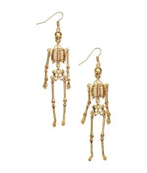 ausgefallene Ohrringe * Skelett * beweglich * nie getragen * NEU *