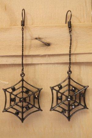 ausgefallene Ohrringe * Spinnennetze * Kristalle * nie getragen *