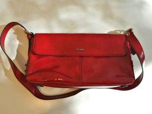 Ausgefallene rote Tasche in Lack Optik