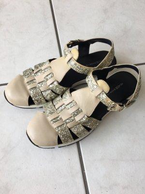 Comfort Sandals cream-gold-colored