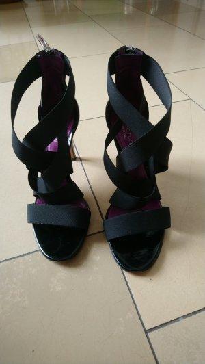 Ausgefallene Sandalette von Segio Rossi, schwarz, Gr. 38