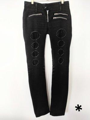 Ausgefallene, schwarze Jeans Vixxsin