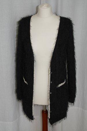 Ausgefallene schwarze Strickjacke von Yumi Gr. S