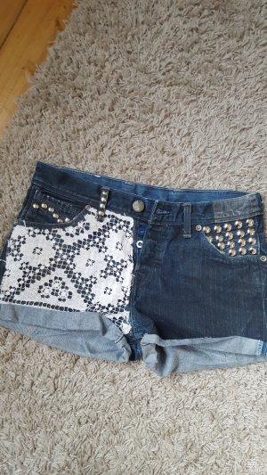 Levi's Pantaloncino di jeans blu scuro