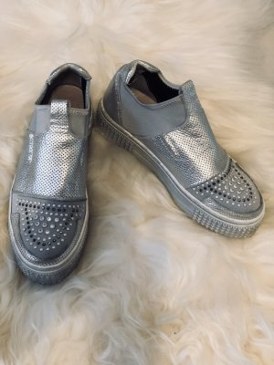 Biondini Slip-on Sneakers silver-colored