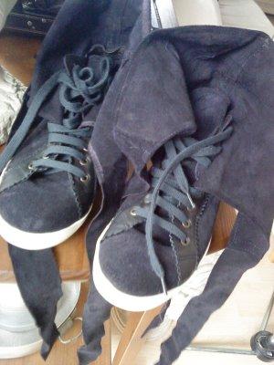 ausgefallene Sneakers dunkelblau Wildleder von Manoush Größe 41