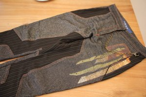 Breeches multicolored mixture fibre