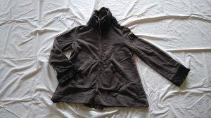 European Culture Veste courte taupe-gris brun coton