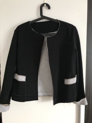 Sweat Blazer black-light grey