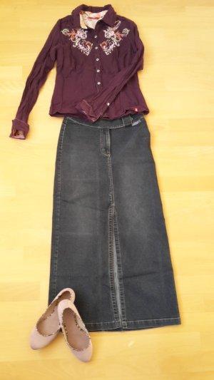 Ausgefallene Vintage Bluse im Knitterlook