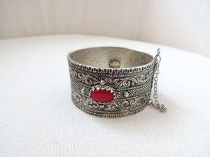 Braccialetto argento-rosso