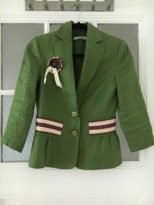 Zara Blazer vert gazon-vieux rose