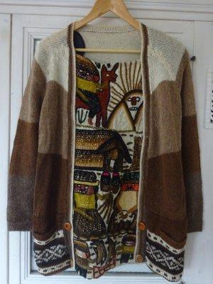 Maglione di lana multicolore Lana d'alpaca