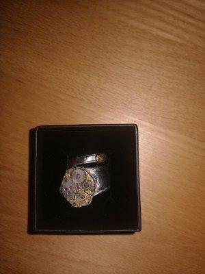 Zilveren ring zilver-brons